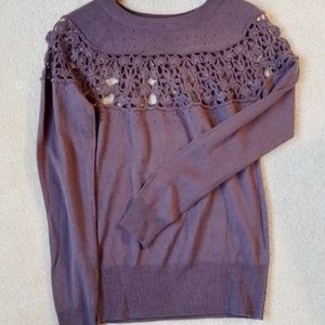 💜Sweater with crochet detail 💜